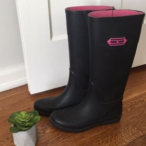 Tommy Hilfiger Rainboots with Pink Zipper